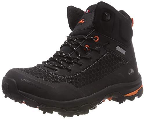 viking RASK Spikes GTX W, Unisex-Erwachsene Trekking- & Wanderstiefel, Schwarz (Black/orange 231), 36 EU (3.5 UK)