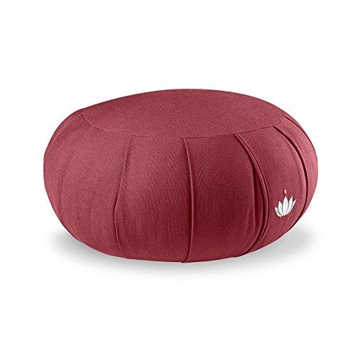 Lotuscrafts Cojin Zafu Meditación Yoga Kapok Delight - Altura 15 cm - Relleno de Kapok - Cubierta en Algodon Lavable- Cojin Yoga Zafu - Cojin Suelo Redondo - Meditation Cushion - Certificado Gots