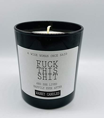 Wanky Candle Novelty Birthday Gift Rude Funny A Wise Woman WCBJ07