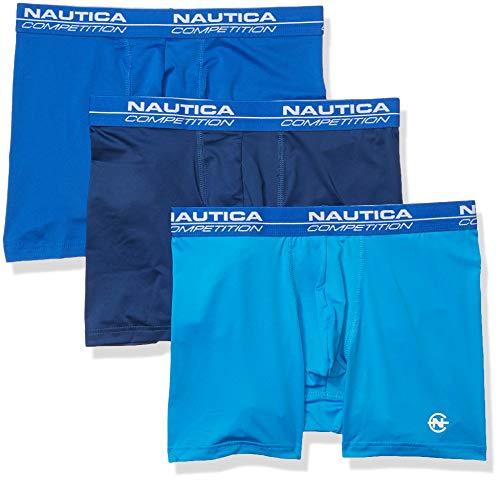 Nautica Competition Micro – Calzoncillos bóxer para Hombre (3 Unidades), Estate Azul/Bright Nautica…