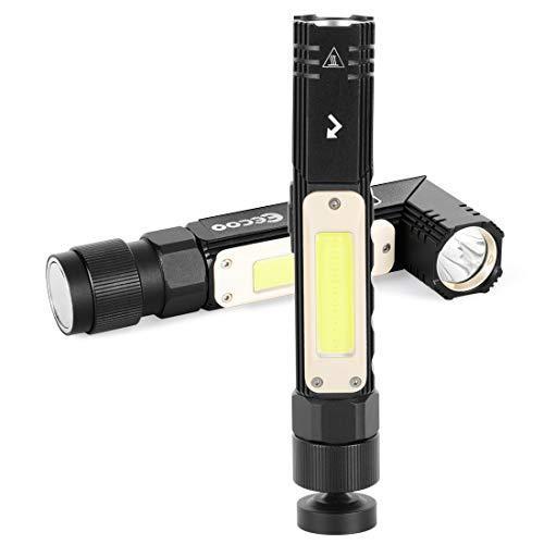 Lampada da Lavoro 1000LM Ultra Luminoso, Lampade di ispezione 5 modalità, Torcia LED COB...