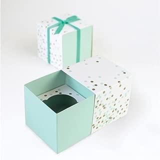 Paper Eskimo Cupcake Box (Pack of 6), Mint Confetti