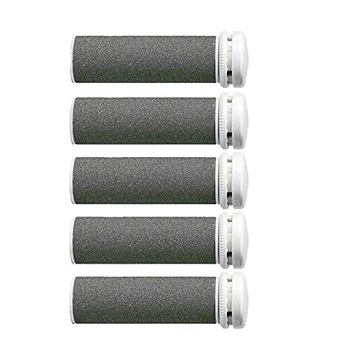 Foot Solutions Super Coarse Emjoi Micro-Pedi Refills Rollers Compatible with Emjoi Micro-Pedi Callus Remover (5 PACK-Gray)