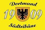Dortmund Südtribüne Fahne Flagge Grösse 1,50 x 0,90m mit Ösen oder Hohlsaum - FRIP -Versand®