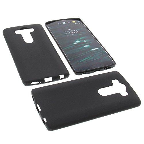 foto-kontor Tasche für LG V10 Gummi TPU Schutz Hülle Handytasche schwarz