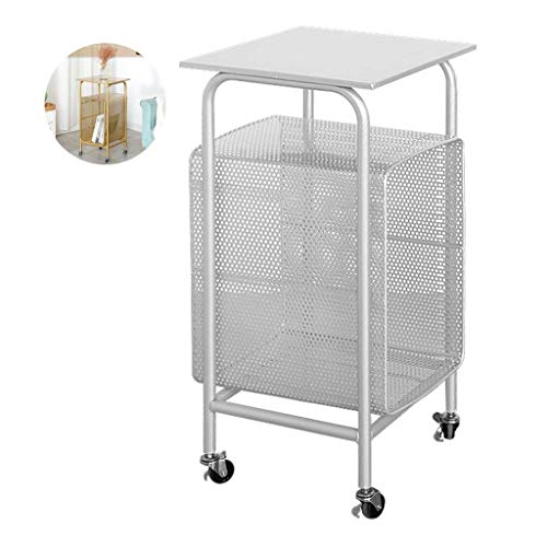 N/Z Home Equipment Side Tables for Living Room Metal Coffee Table Living Room Shelf Magazine Rack Storage Table Outdoor Garden Table Seamless Welding Nordic Style Table