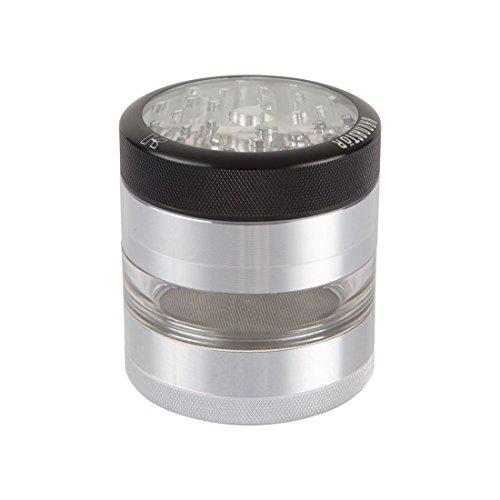 Kannastor 4Piece 5,6cm Clear top Grinder with Clear Jar Section