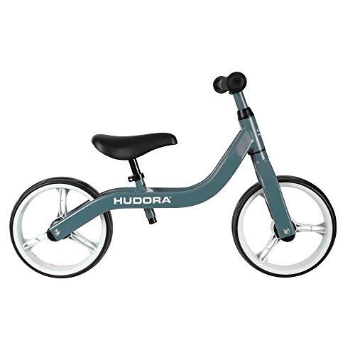 HUDORA Laufrad Ultralight Alu, blau | Superleichtes Kinder Laufrad - nur 2,7 kg | Lauflernrad mit extra breiten 12 Zoll Rädern | Sattel & Lenker höhenverstellbar | Kinderlaufrad ab 2 Jahre
