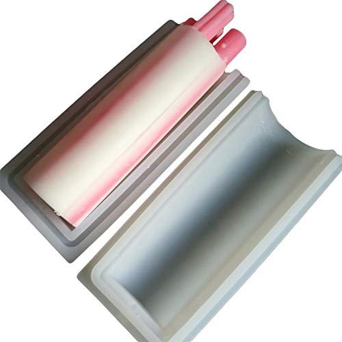 Kitabetty Seifenform, DIY Handgefertigte Langzylinderform Silikonform Speziell Für Seifenform Zylinderform Rohrform, 1 KG (zufällige Farbe)
