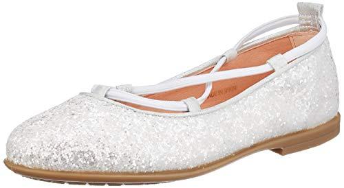 Unisa Mädchen SEIMY_20_GL_N Geschlossene Ballerinas, Weiß (White White), 33 EU