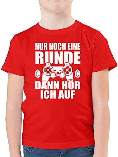 Sprüche Kind - Nur noch eine Runde - 152 (12/13 Jahre) - Rot - Jungs t Shirt 164 - F130K - Kinder Tshirts und T-Shirt für Jungen