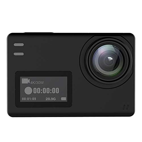 SHENYUAN-camera Impermeable Anti-Vibraciones Deportes al Aire Libre Cámara Profesional Buceo Fotografía aérea Ciclismo 1080P HD Deportes DV, Pantalla Dual, Tamaño 62.5x41x28.8mm (Color : Black)
