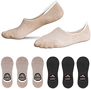 Cozywow Cotton No Show Socks Non Slip Sports Casual Socks for Women & Men 3Pairs/6 Pairs