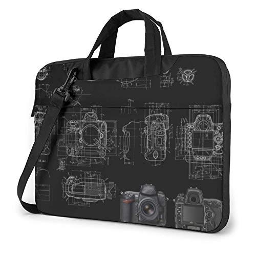 Camera Schematic Laptop Shoulder Bag Sleeve Case, Shockproof Laptop Briefcase Computer Bag
