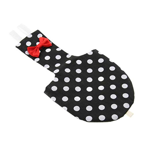 LOVIVER Ropa para Pájaros Loro Pañal para Pájaros Pañal Pantalones Suave para Cockatiel Periquito Loro Pinzones - Negro XS