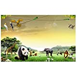 Papel tapiz 3d personalizado murales 3d papel tapiz Animal world TV setting pared pradera paisaje decoración de la pared 3d papel tapiz para dormitorio