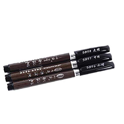 Cepillo De La Tinta Pen- 3 Tamaño Negro Japonés De La Caligrafía China Para Principiantes Pluma De Escritura, Letras, Firma (paquete De 3 Piezas)