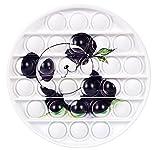 NUFR Circle Panda Shape Pop Bubble Fidget Toy, Animal Shaped Sensory Silicone Toy for Adult Kids Office