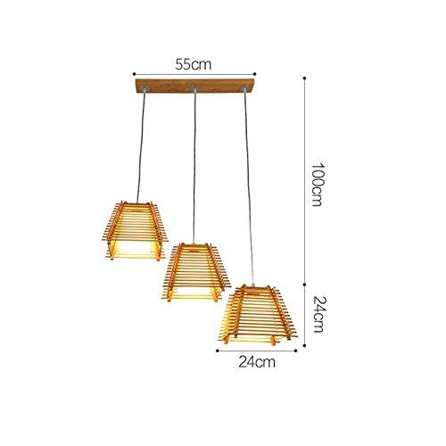 G-D plafondlamp massief houten kandelaar in Japanse stijl in Koreaanse stijl eenvoudige woonkamer restaurant geleide E27 gemakkelijk te reinigen