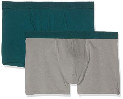 Dim Sous-vêtements Homme Boxer Soft Power X2, Multicolor (Gris Métal/Vert Pacific 8nk), X-Large (Talla del Fabricante: 5) (Pack de 2) para Hombre