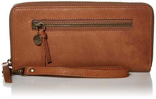 Lucky KOWE Single Zip Wallet, New Cognac/ 211