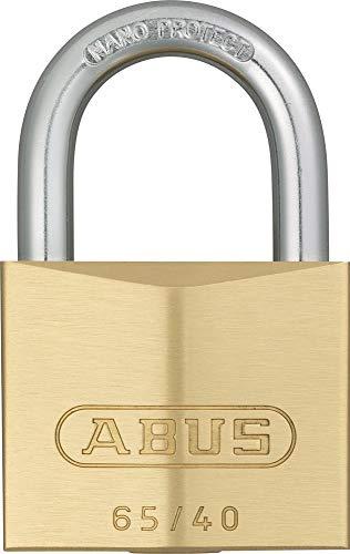 Abus 32129 65/40 3 hangslot, messing, 40 mm, 0025101, goudkleurig 40