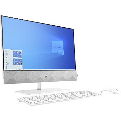 HP Pavilion 27 Touch Desktop 2TB SSD 2TB HD 64GB RAM (Intel Core i9-10900 CPU w/Turbo Boost to 5.20GHz, 64 GB RAM, 2 TB SSD + 2 TB HD, 27-inch FullHD Touchscreen, Win 10) PC Computer All-in-One