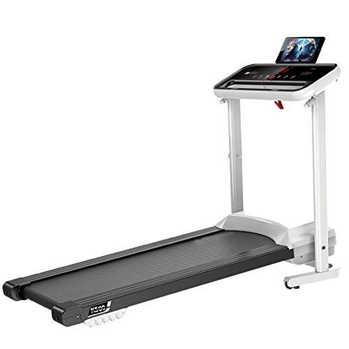GAO YUN Klappbares motorisiertes Laufband, einstellbare Geschwindigkeit der Laufmaschine, LCD-Bildschirm, mit Lautsprechern, ultradünn und leise, für Heim/Büro
