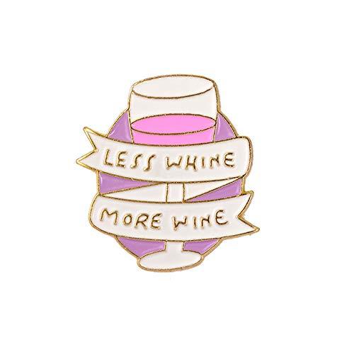 Gouen wijnmini bier cocktail wijnglas rode wijnfles beker brochespin badge collectie cadeau voor vrouwen mannen partij, Style4