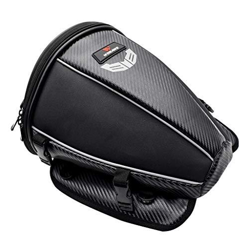 F Fityle Bolsa para Sillín de Motocicleta de 15 litros - Paquete Trasero Enrollable para Asiento Impermeable - para Motociclismo, Ciclismo, Camping Y Vehículos