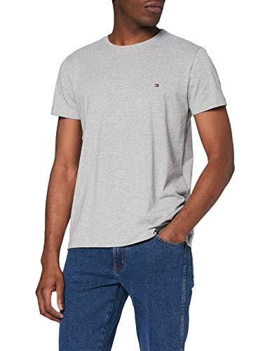 Tommy Hilfiger Core Stretch Slim Cneck tee Camiseta, Gris (C