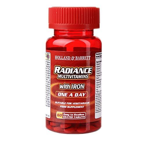 Holland & Barrett Radiance Multi Vitamins & Iron One a Day - 60 Tablets