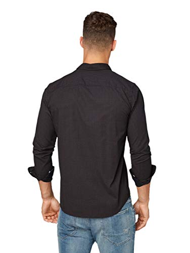 TOM TAILOR Herren Blusen, Shirts & Hemden Gemustertes Hemd Black red minimal Design,XL,19536,2999