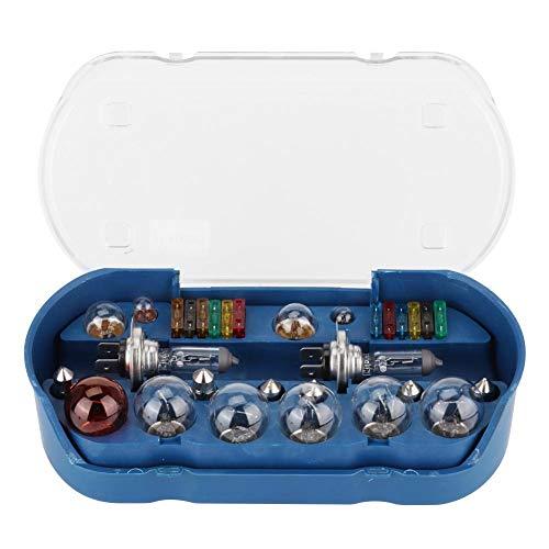30pcs Bombilla para coche, H7 12V 55W Auto Car Bombilla de emergencia + Kit de fusibles Repuestos universales