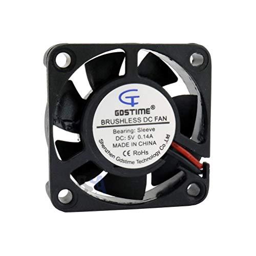 GDSTIME Ventilador 40 mm 40 x 40 x 10 5 V DC Air Fan 0,14 A 4 cm 2 hilos (+/-) Refrigeración 40 mm x 10 mm
