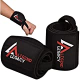 Legend Legacy Weight Lifting Straps (Pair) Heavy-Duty Wrist Wrap - 18' Adjustable Wraps with Thumb...