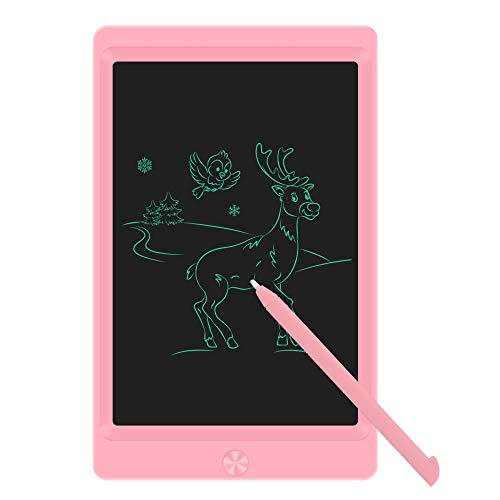 LCD Writing Tablet Drawing Board, Electronic Drawing Tablet Kids Tablets Doodle Board Writing Pad for Kids and Adults at Home, School and Office with Lock Erase Button (Pink)