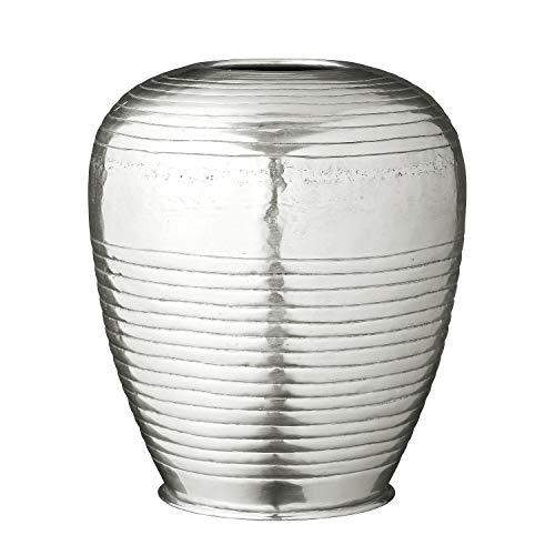 Lene Bjerre Vase Blumenvase Gefäß \'Liana\' Silber 23 x 20 cm Boho Ethno Vintage
