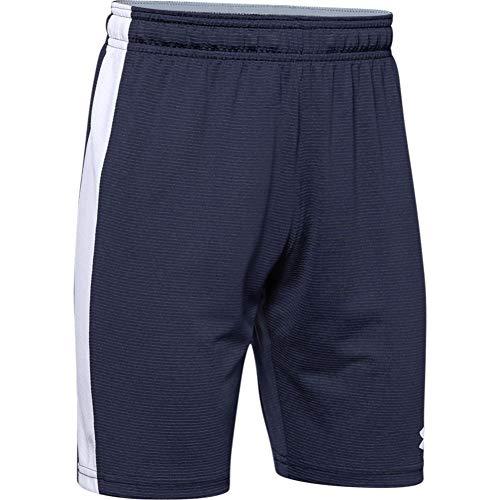 Under Armour Threadborne - Pantalones cortos para niño - 1293170, Pantalones cortos Threadborne Match, L, Azul marino medianoche (410)/Blanco