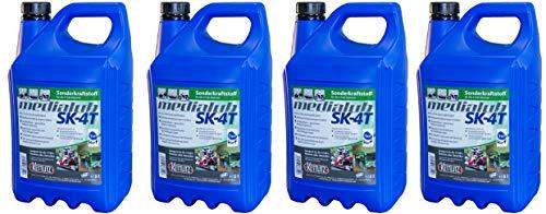 4 x 5 Liter KETTLITZ-Medialub SK-4T Alkylatbenzin/Sonderkraftstoff für 4 Takt, Rasenmäher usw. KWF Geprüft