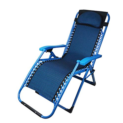 Best Choice Zero Gravity Chair, 170°Adjustable 4D Sandwich Mesh, Soft and Breathable, Camping Recliner and Lounge Chair/Blue