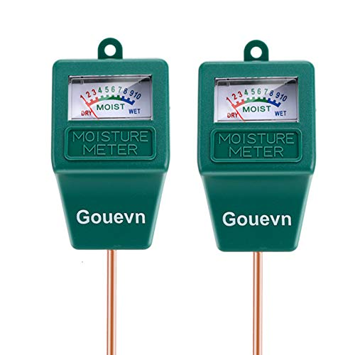 Gouevn 2pack Soil Moisture Meter, Hygrometer Soil Plant Water Meter, Plant Moisture Meter Indoor & Outdoor for Potted Plants, Lawns, Succulent (No Batteries Required)