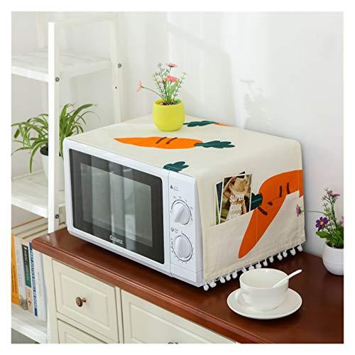 JINAN Housse de protection pour four à micro-ondes avec poche en coton épais et lin (couleur : 11, taille : 30 x 90 cm)