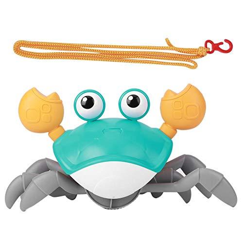 Juguete de baño para bebés, juguete de relojería de animales de dibujos animados de cangrejo, arrastrar y caminar Juguetes de playa, bañera Baño de piscina Juguetes para bebés niños (azul)