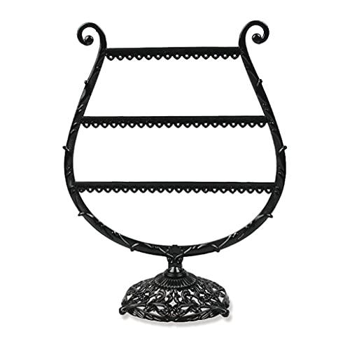 Organizador de joyas para colgar en forma de corazón y vino, para pendientes, pulseras, joyas, expositor de árbol, pendientes, pendientes, soporte para joyas ordenadas