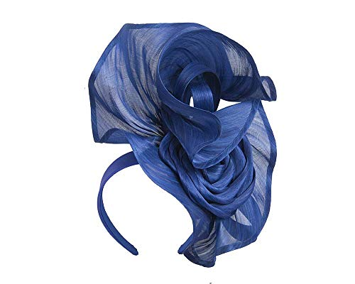 Fillies Collection Twisted Royal Blue Designers Fascinator by