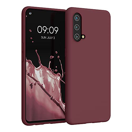 kwmobile Hülle kompatibel mit OnePlus Nord CE 5G - Hülle Silikon - Soft Handyhülle - Handy Hülle in Tawny Red