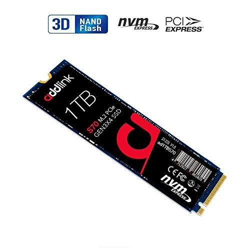 Addlink S70 1TB SSD NVMe PCIe Gen3x4 M.2 2280 Solid State-Laufwerk Interne bis zu 3400MS/s 3000MB/s