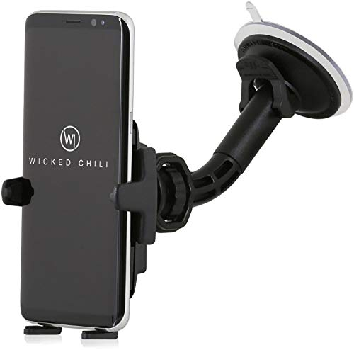 Wicked Chili KFZ Halterung mit Kugelgelenk kompatibel mit Samsung Galaxy S20 / S10 / S10e / S9 / S8 / A60 / A2 Core / A40 / A10e / M40 Handy Autohalterung Smartphone (Made in Germany, für Hülle & Case)