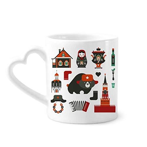 DIYthinker beer wodka Accordeon pop Rusland koffie mokken aardewerk keramische beker met hart handvat 12oz gift